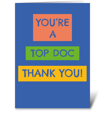131 Top Doc Thank You Card greeting card