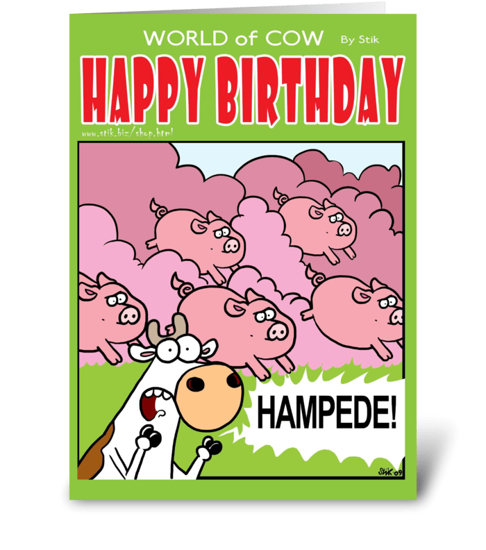 HAMPEDE! Birthday Card greeting card