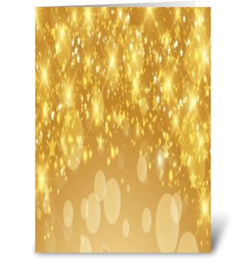 golden stars greeting card