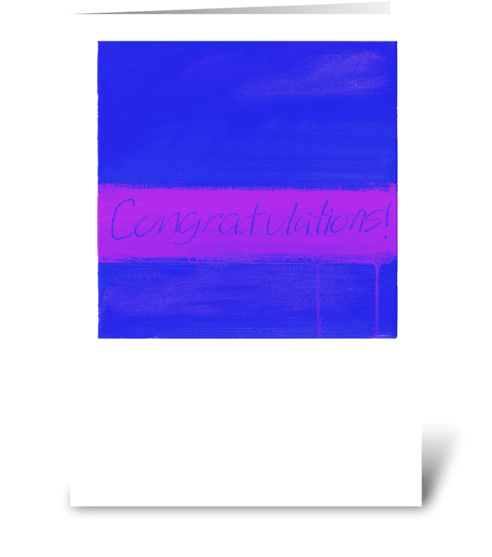 Congratulations Painting-Blue & Purple greeting card