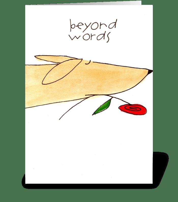 beyond words greeting card