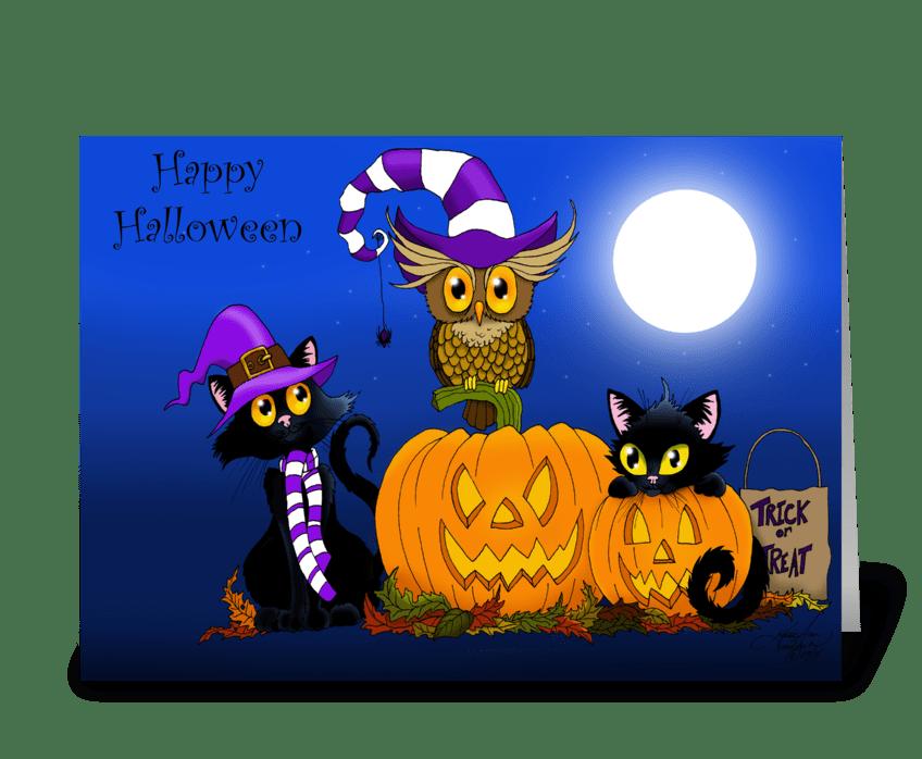 Halloween Trio greeting card