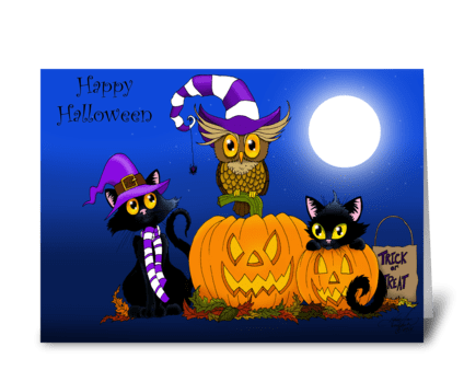 Halloween Trio greeting card