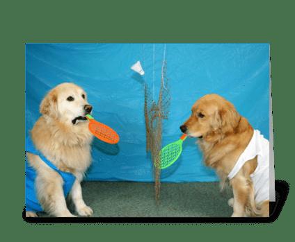 Badminton Birthday greeting card