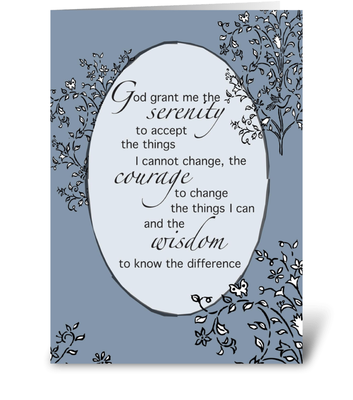 Serenity Prayer Thinking of You greeting card