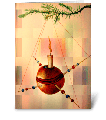 Christingle greeting card