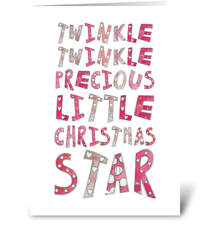 Twinkle Twinkle Christmas Star greeting card
