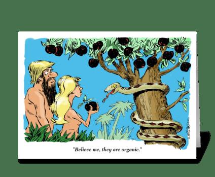 The P. C. Garden of Eden. greeting card