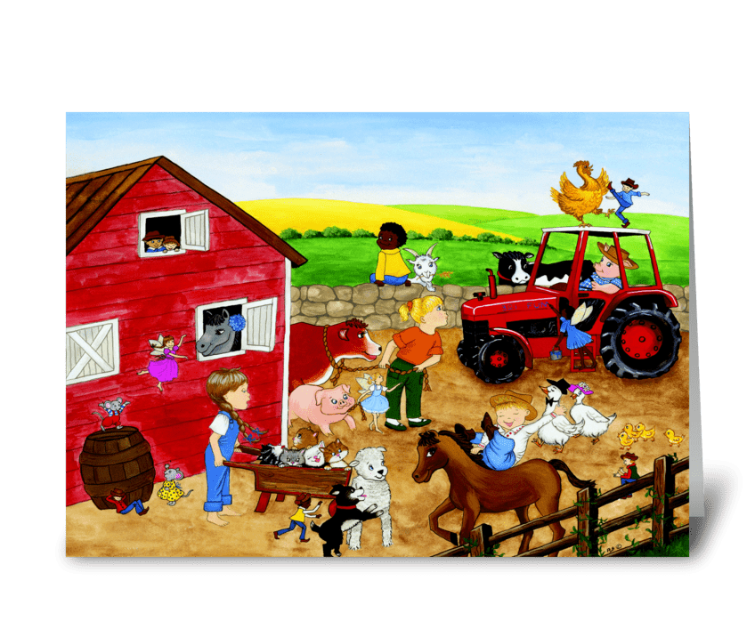Farm Magic greeting card