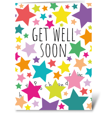 68 Get Well Hypochondriac greeting card