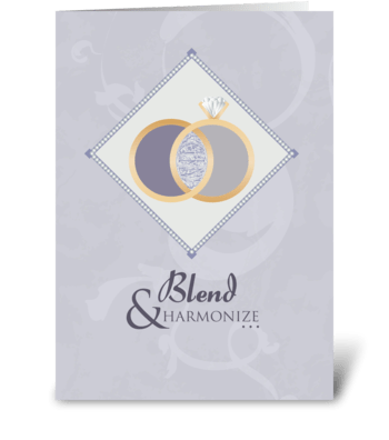 Blend and Harmonize - Wedding greeting card