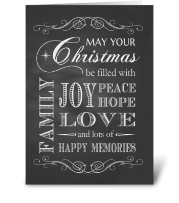 Chalkboard - May your Christmas be ... greeting card