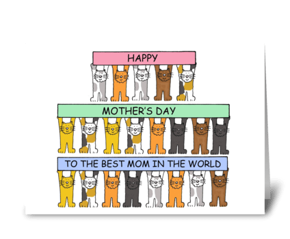 Best Mom in the World Mother's Day greeting card