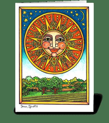 Sun Spots greeting card