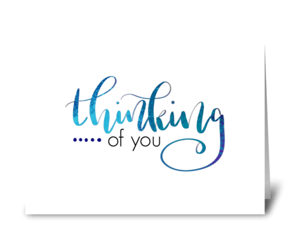 I'm thinking of you greeting card