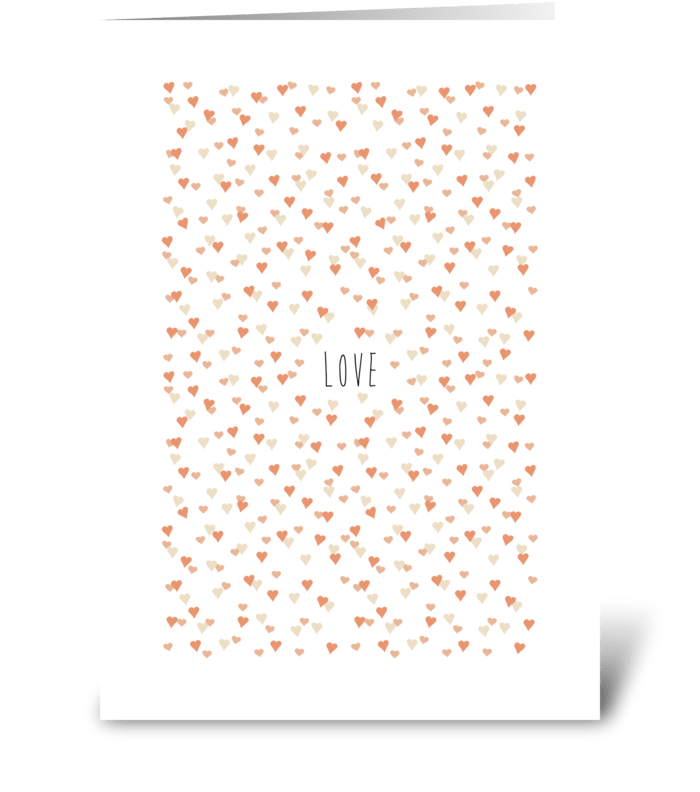 aflutter heart greeting card