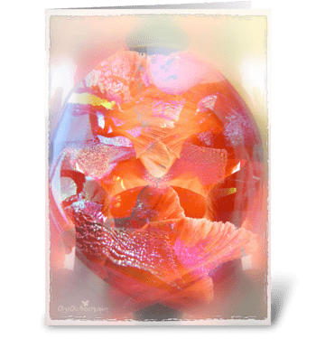Glassy petals greeting card