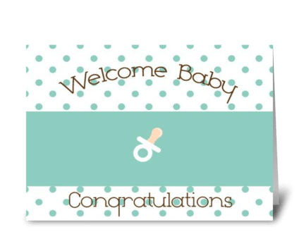 Welcome Baby! greeting card