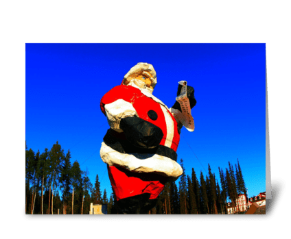 Giant Santa Claus greeting card