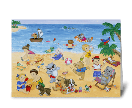 Seaside Magic greeting card