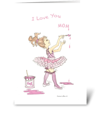 Birthday Mom greeting card