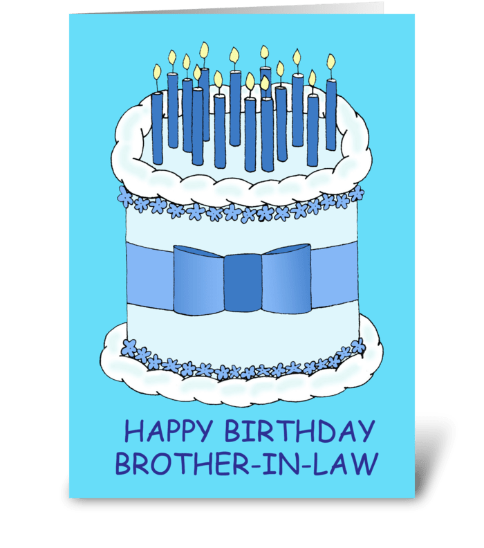 Brother In Law Happy Birthday Greeting Card