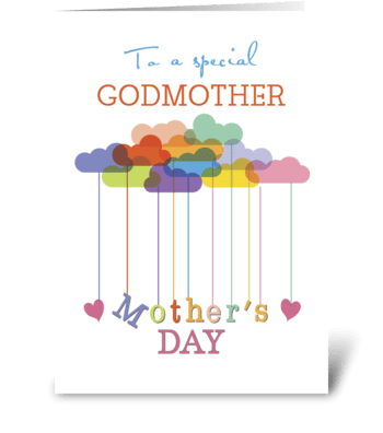 Godmother, Cute Mother's Day Rainbow greeting card