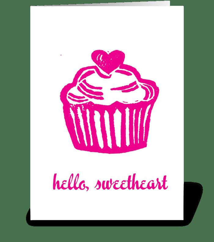 Hello Sweetheart! greeting card