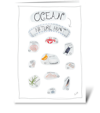 Ocean Nature Hunt greeting card