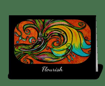 """Flourish"" greeting card"