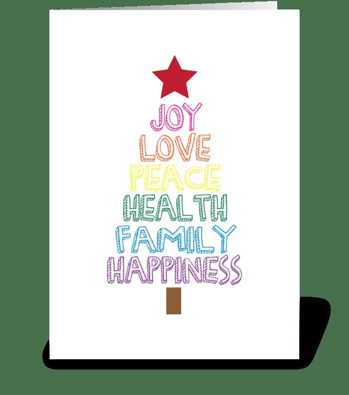tree of joy greeting card