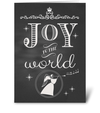 Chalkboard Christmas Joy to the World greeting card