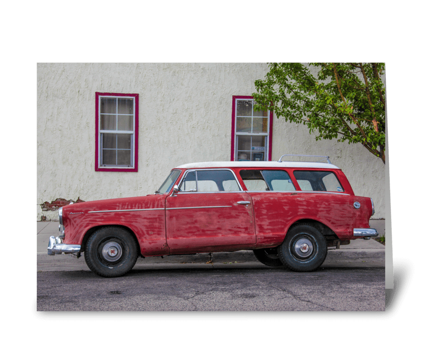 American Rambler Profile greeting card