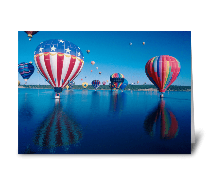 Patriotic Balloon greeting card