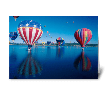 Patriotic Balloon greeting card