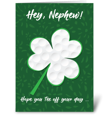 Nephew Golf Sports St. Patrick's Day greeting card