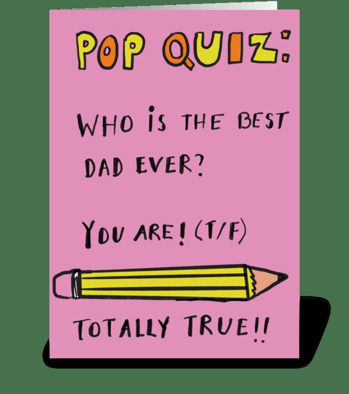 Dad Quiz greeting card