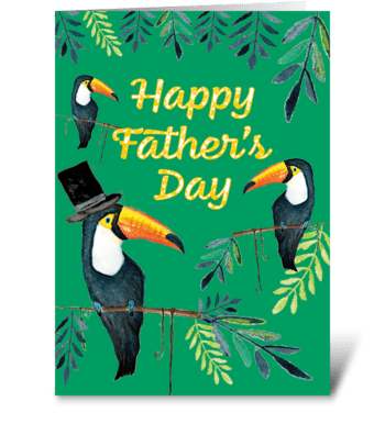 Father's Day Toucans greeting card