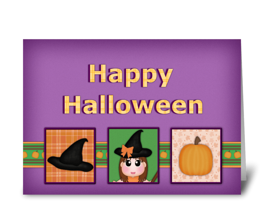 Halloween Greeting greeting card