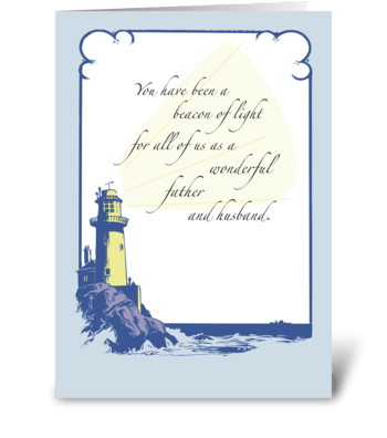 Father's Day Lighthouse, Husband greeting card