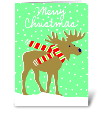 Friend of Santa (moose) greeting card