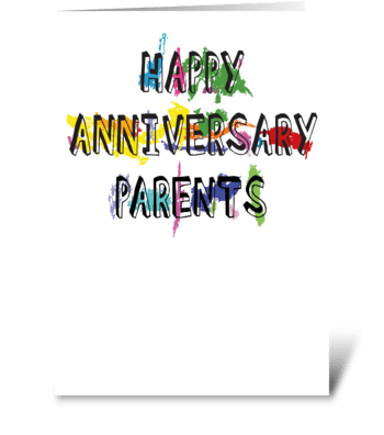 98 Parents Anniversary greeting card