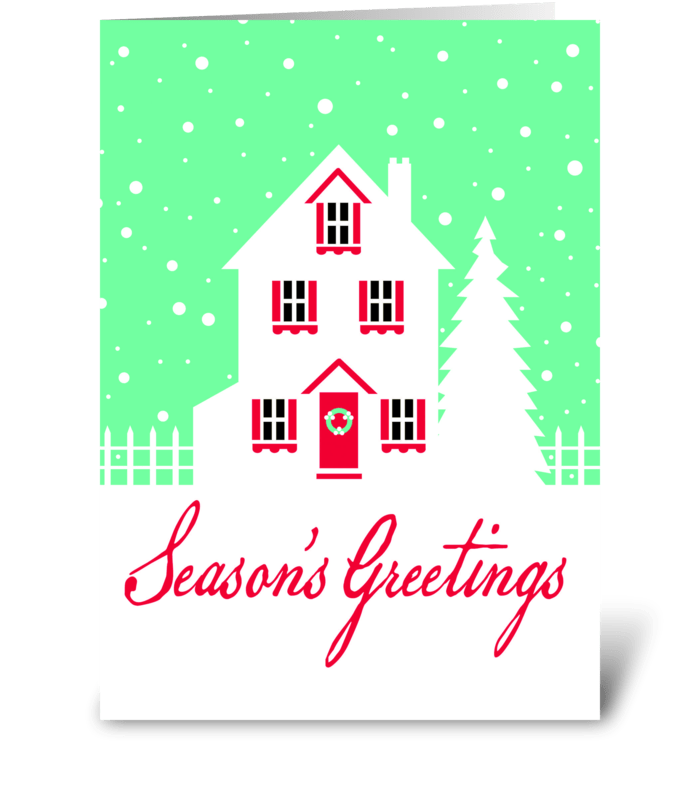 Simple Christmas Greeting greeting card