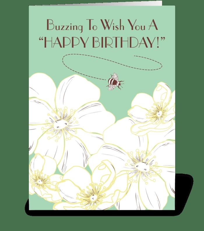 Buzzing Birthday greeting card