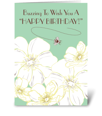 Buzzing Birthday greeting card
