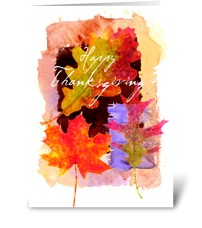 Thanksgiving Love greeting card