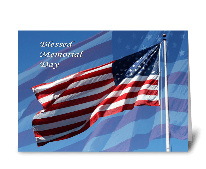 Blessed Memorial Day greeting card