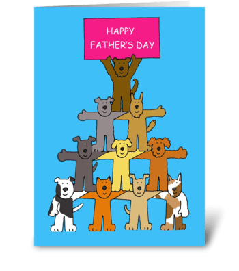 Happy Father's Day Dogs greeting card