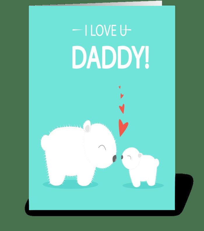 cute love you daddy greeting card