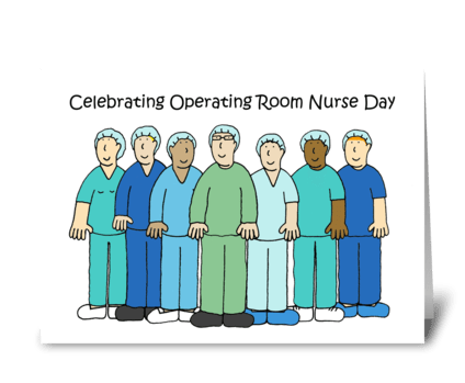 Operating Room Nurses Day. greeting card